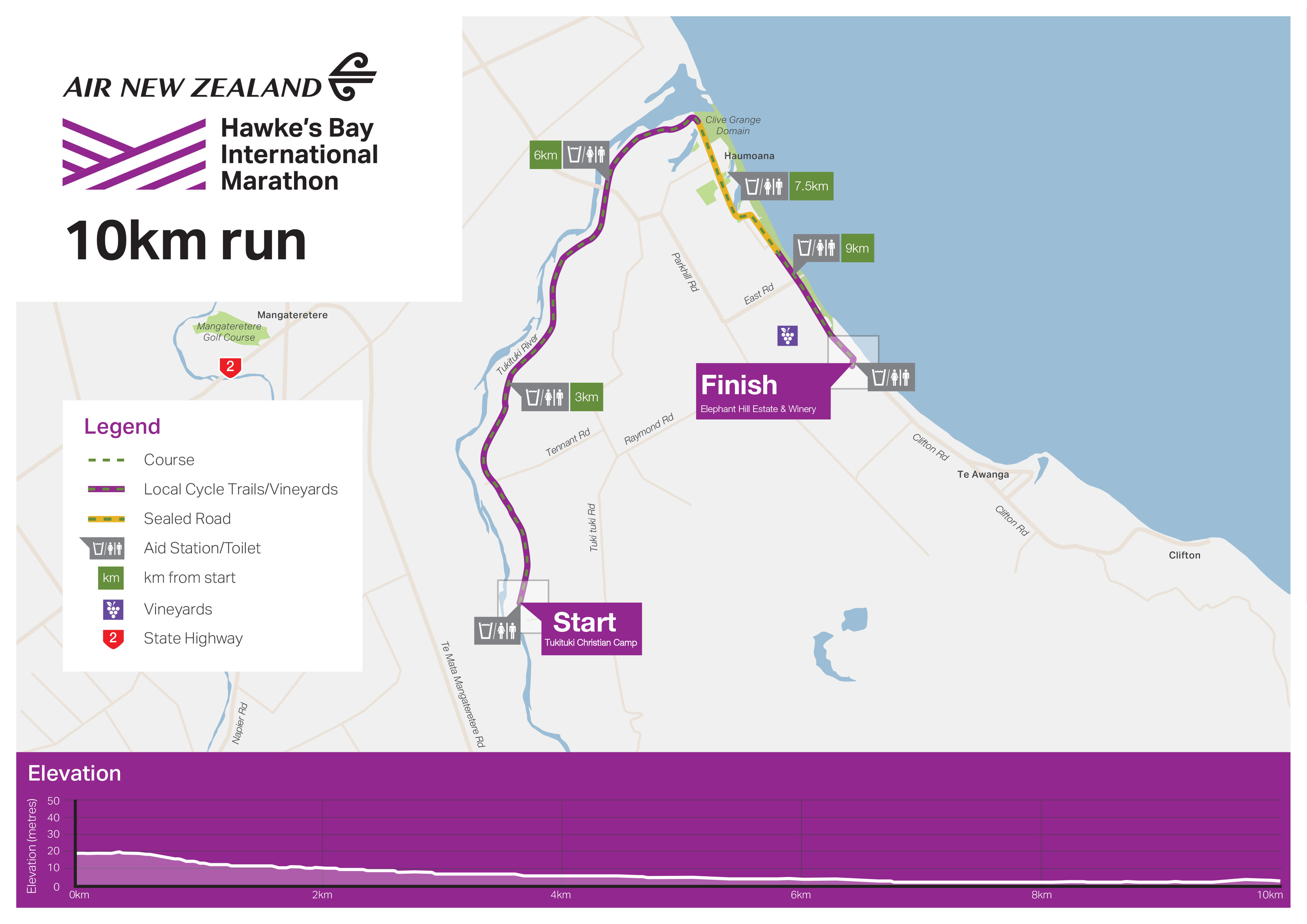 New Zealand Map Pdf.Course Overview Hawke S Bay International Marathon