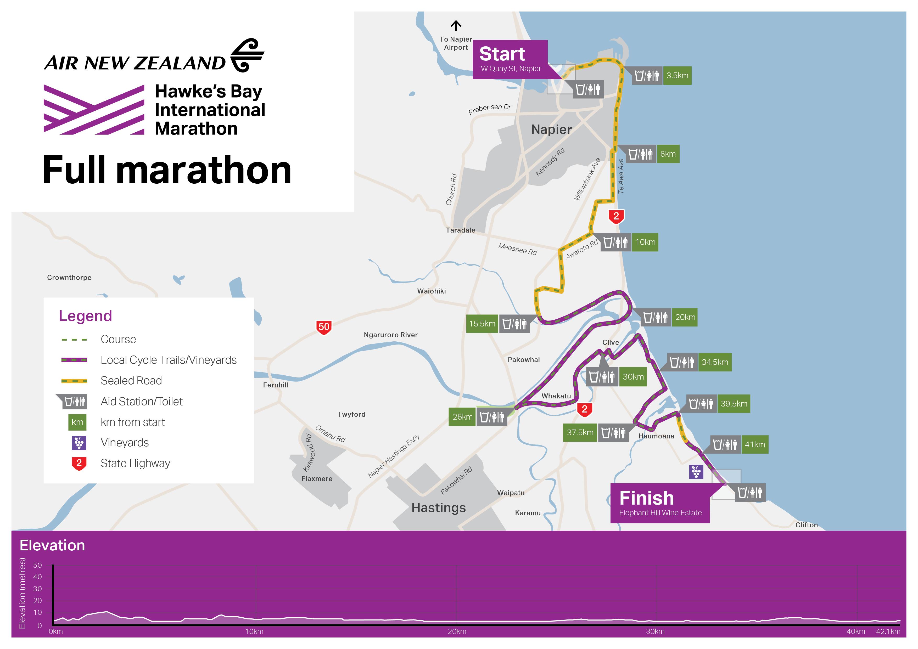 New Zealand Map Pdf.Air New Zealand Marathon Hawke S Bay International Marathon